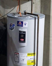 Water heater in a Norristown home